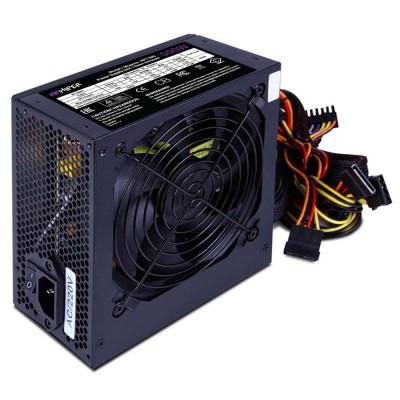 Блок питания ATX 500W HIPER HPT-500 (ATX 2.31, 500W, Passive PFC, 120mm fan, power cord, черный) OEM