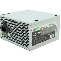 Блок питания ATX 400W AirMax AA-400W Блок питания 400W ATX (24+4+6пин, 120mm (SCP)\(OVP)\(OCP)\(UVP)\ATX 12V v.2.3)