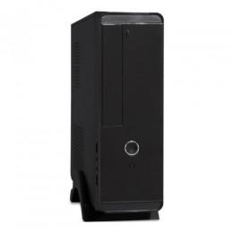 Exegate EX268693RUS Корпус MiniITX Exegate MI-208 Black, miniITX/mATX, <M300, 80mm>, 2*USB, Audio