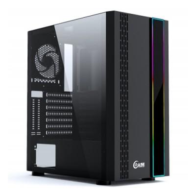 Powercase Maestro H3 Black ARGB, Tempered Glass, 3x 120mm fan, ARGB strip, чёрный, ATX  (CMAHB-F3)