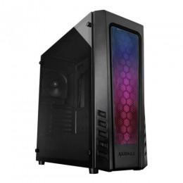Raidmax ZETA RGB, без БП, Addressable RGB strip + Пульт ДУ, большое боковое окно из закалённого стекла, чёрный, ATX