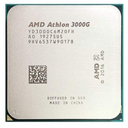 Центральный процессор AMD Athlon 3000G / 3.5 GHz, 2 cores, 4 threads, 4MB L3, Radeon Vega 3, 35W TDP, AM4, 14nm / YD3000C6M2OFH