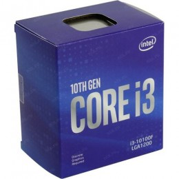 Процессор Intel Core i3-10100F (3.6GHz/6MB/4 cores) LGA1200 BOX, TDP 65W, max 128Gb DDR4-2666, BX8070110100FSRH8U